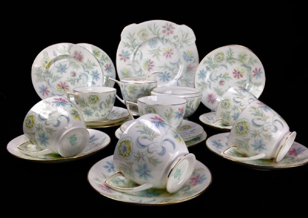 Vintage Minton Tea Set / Tea Cups / Vanessa 1960's / Floral / Afternoon Tea